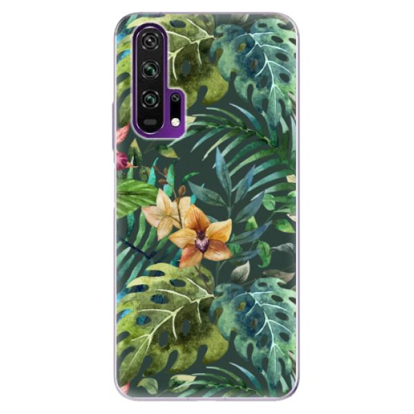 Odolné silikonové pouzdro iSaprio - Tropical Green 02 - Honor 20 Pro