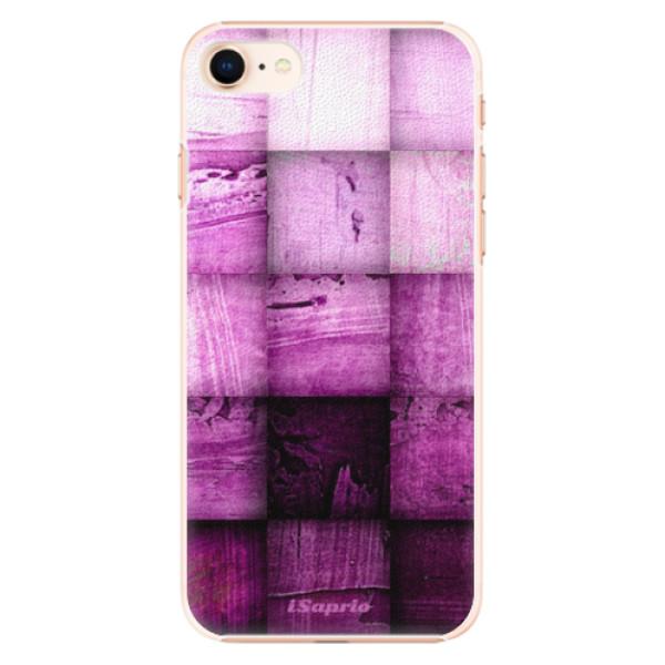 Plastové pouzdro iSaprio - Purple Squares - iPhone 8