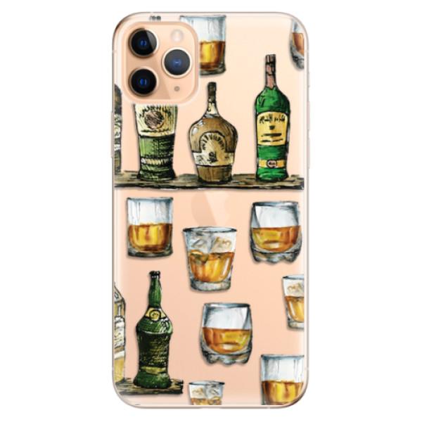 Odolné silikonové pouzdro iSaprio - Whisky pattern - iPhone 11 Pro Max