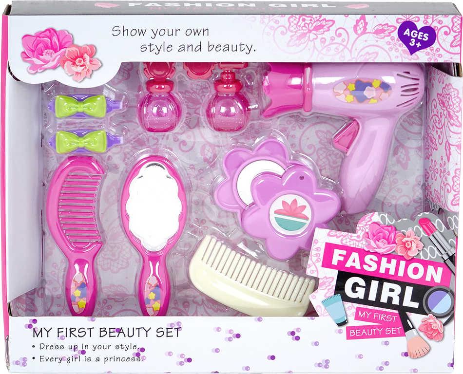 PL Malá kadeřnice sada krásy s fénem a doplňky plast