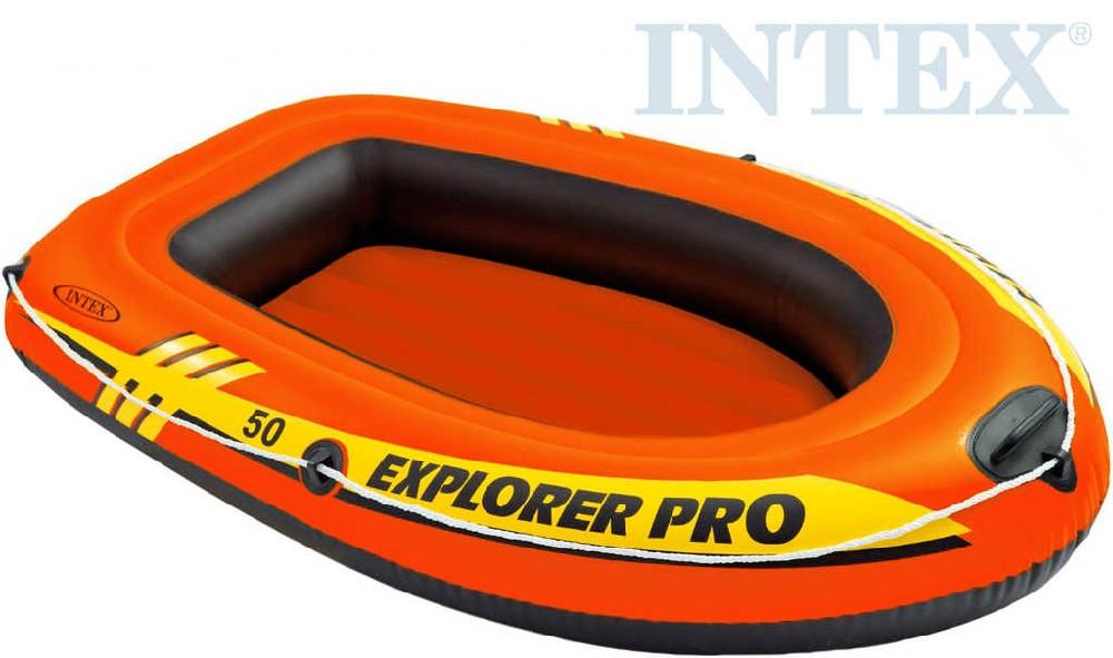 INTEX Člun dětský Explorer Pro 50 oranžový 137x85cm do vody 58354