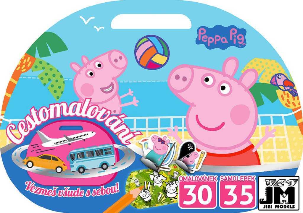 JIRI MODELS Cestomalování Peppa Pig omalovánky + samolepky na cesty