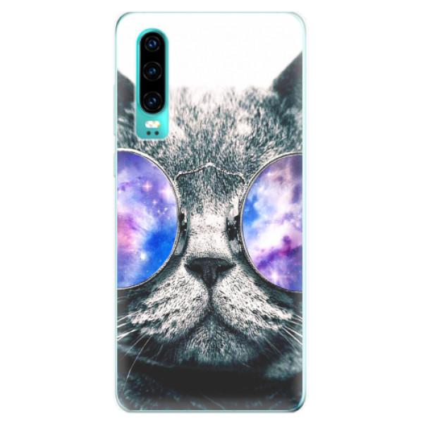 Odolné silikonové pouzdro iSaprio - Galaxy Cat - Huawei P30