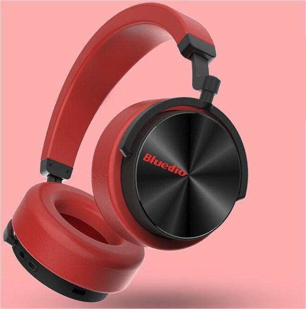 Náhlavní bluetooth sluchátka Bluedio T5 - Červená