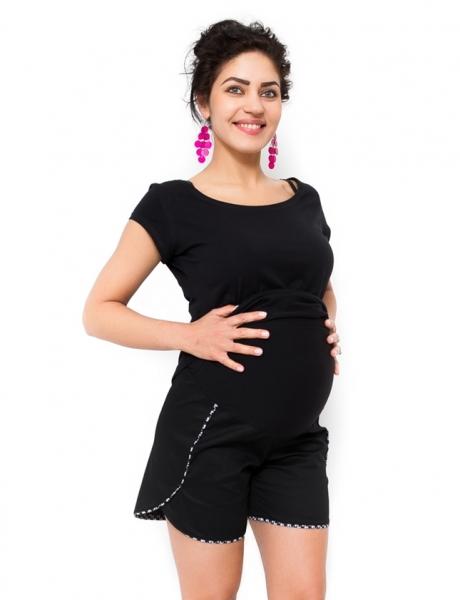 Těhotenské kraťasy Pola - černé
