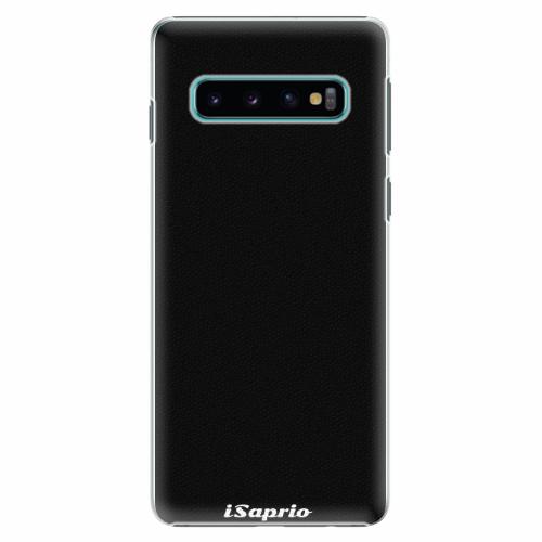 Plastový kryt iSaprio - 4Pure - černý - Samsung Galaxy S10