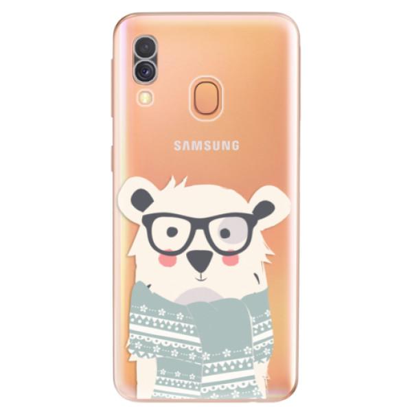 Odolné silikonové pouzdro iSaprio - Bear with Scarf - Samsung Galaxy A40