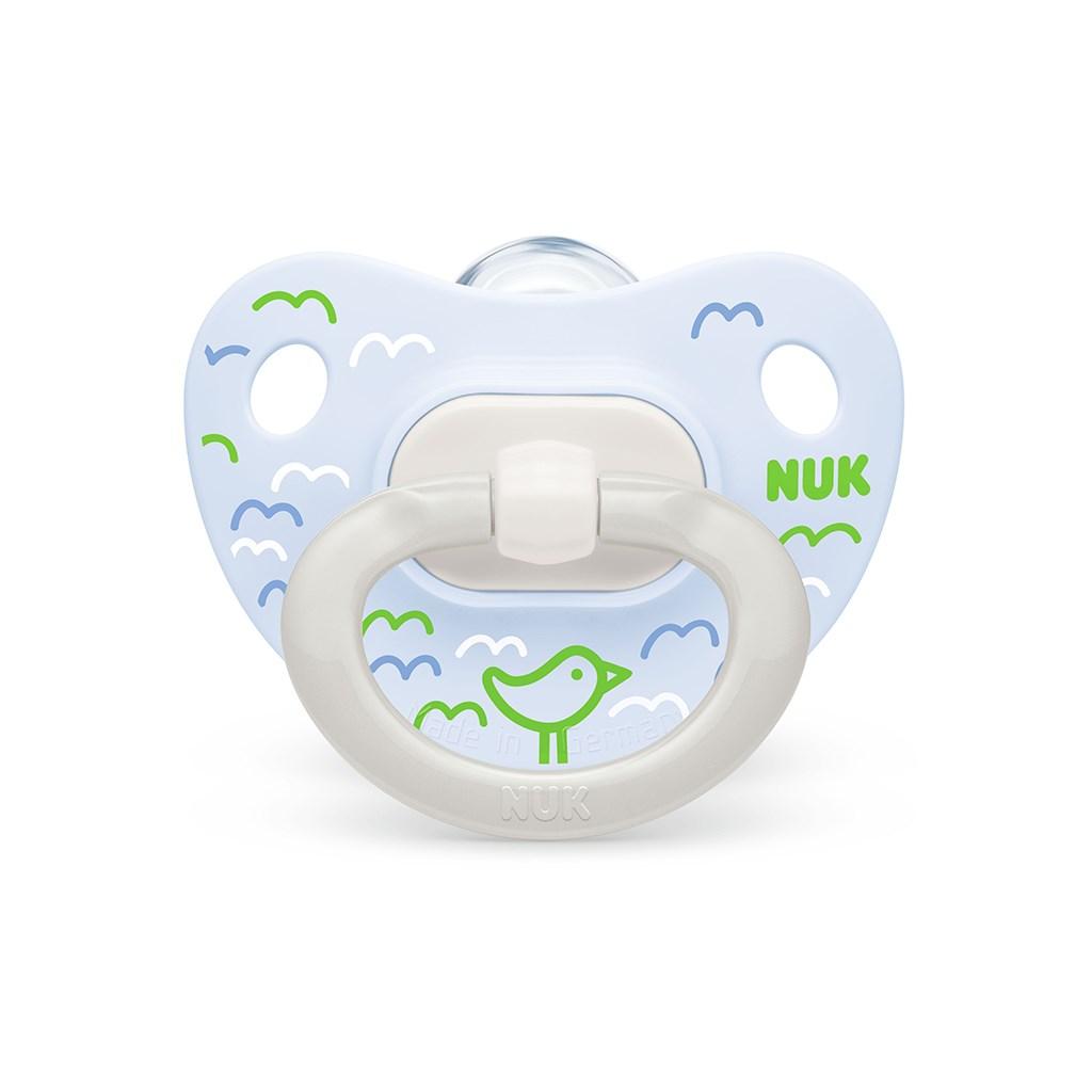 Šidítko NUK Happy Days 0-6m zeleno-modrý BOX - zelená/0-6 m