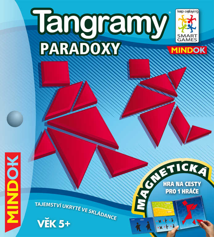 MINDOK Hra SMART Tangramy: Paradox cestovní skládačka hlavolamy magnetiské