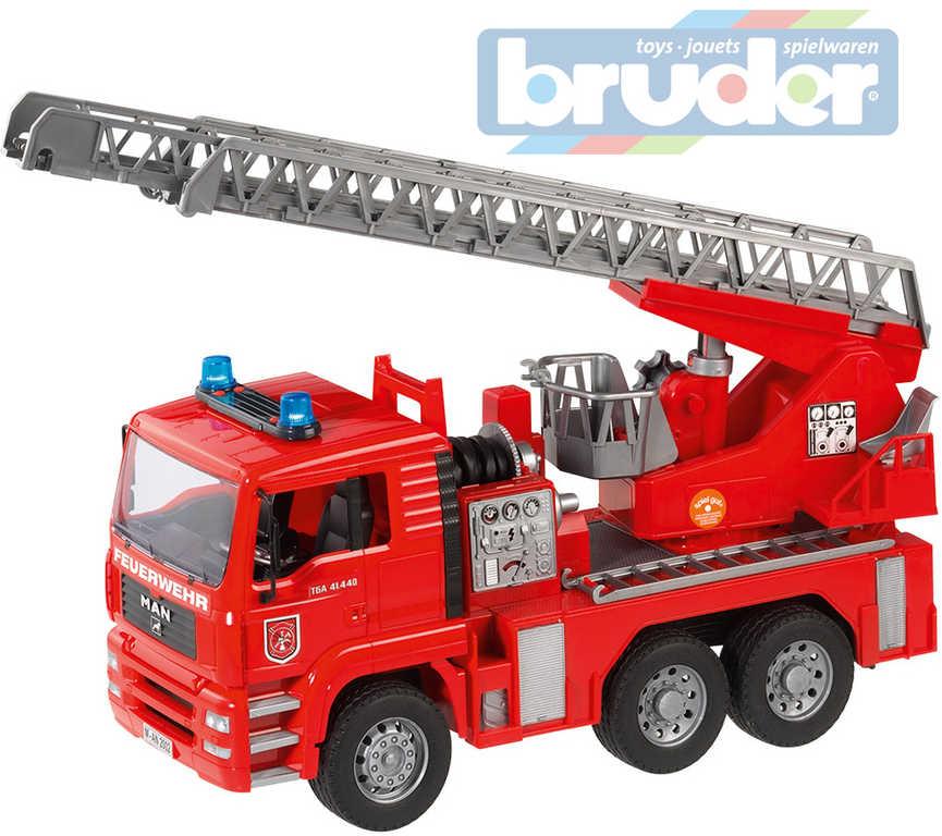 BRUDER 02771 (2771) Nákladní auto MAN - požární žebřík + maják