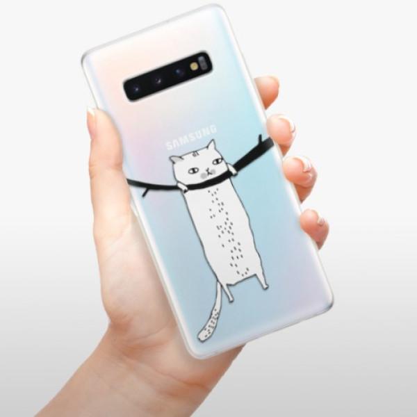 Odolné silikonové pouzdro iSaprio - Hang in there - Samsung Galaxy S10+