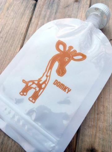 Domky Klasická plnitelná kapsička, 140 ml - Žirafa