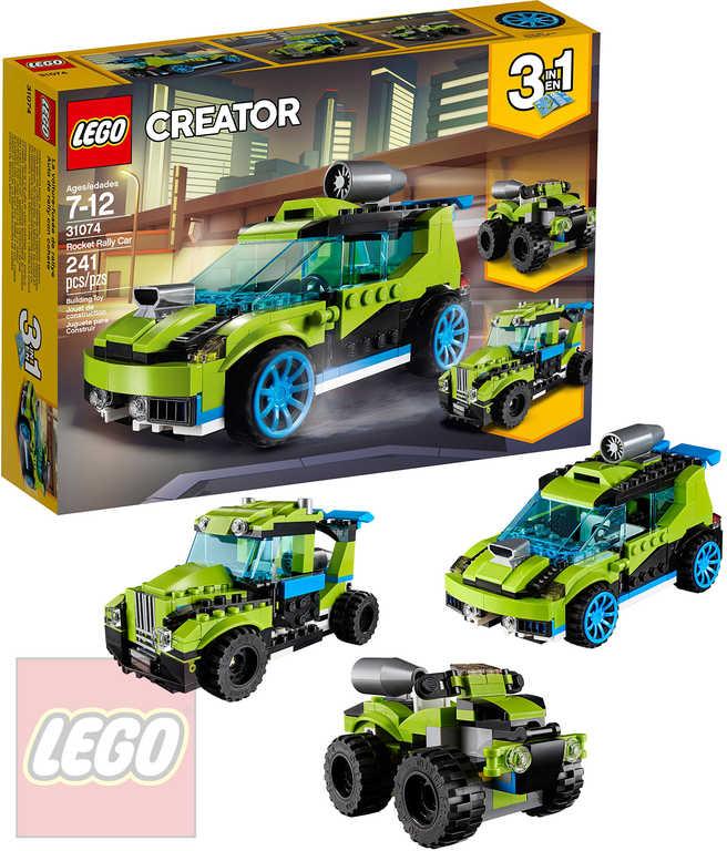 LEGO CREATOR Závodní auto STAVEBNICE 3v1 31074