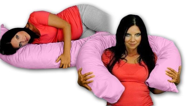 Kojící polštář - relaxační poduška Relax Deluxe - růžová