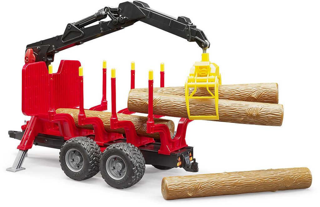 BRUDER 02252 Přepravník na dřevo s nakladačem