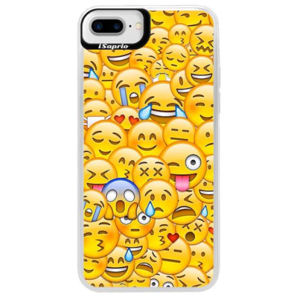Neonové pouzdro Blue iSaprio - Emoji - iPhone 7 Plus