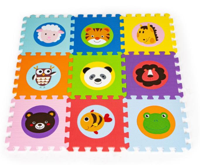 ECOTOYS Pěnové puzzle - Zvířátka - 9ks