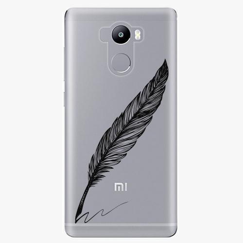 Plastový kryt iSaprio - Writing By Feather - black - Xiaomi Redmi 4 / 4 PRO / 4 PRIME