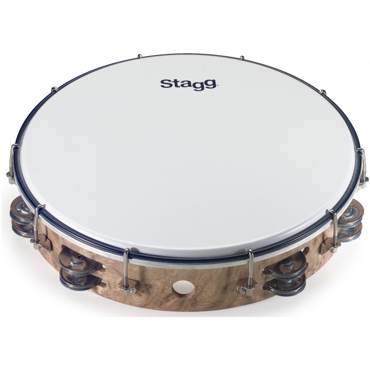 "Stagg TAB-212P/WD, dvouřadá laditelná tamburína, 12"""
