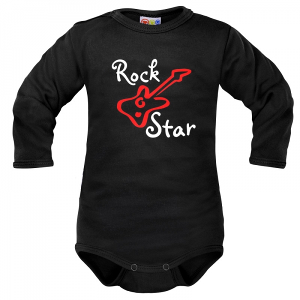 body-dlouhy-rukav-dejna-rock-star-cerne-vel-80-80-9-12m