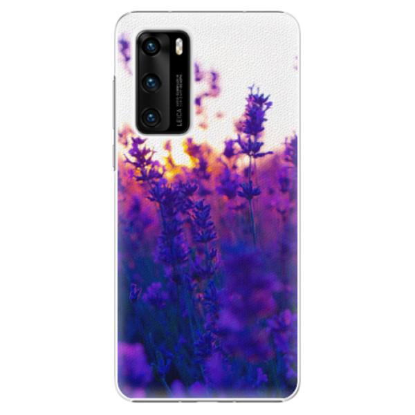 Plastové pouzdro iSaprio - Lavender Field - Huawei P40