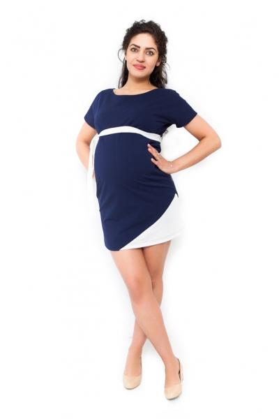 Těhotenské šaty Ines - granát