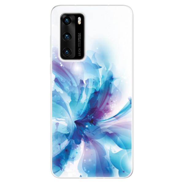 Odolné silikonové pouzdro iSaprio - Abstract Flower - Huawei P40