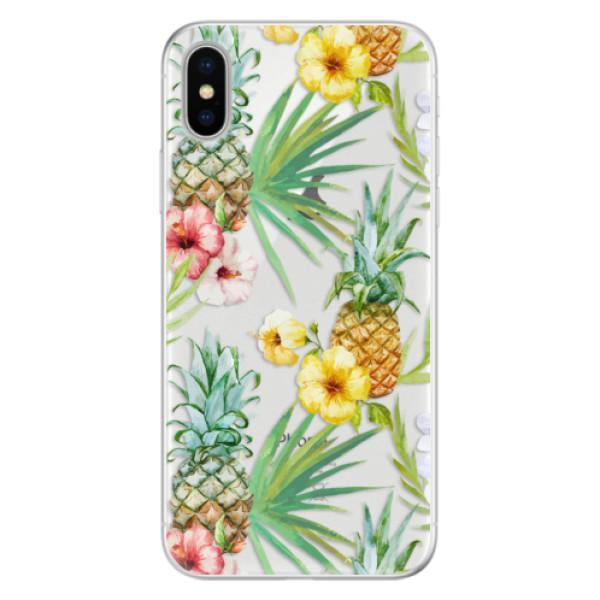 Silikonové pouzdro iSaprio - Pineapple Pattern 02 - iPhone X