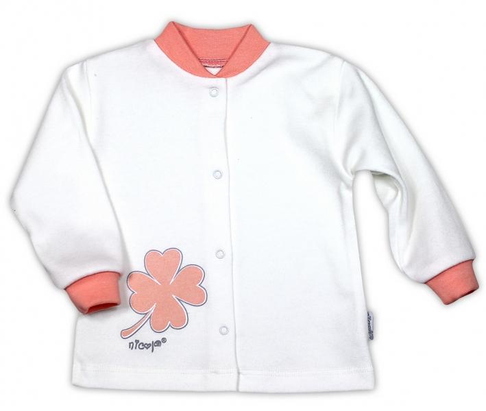 Bavlněná košilka NICOL ČTYŘLÍSTEK - bílá