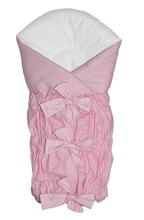 Zavinovačka SAFETY 75x75cm - růžový - jemná kostička