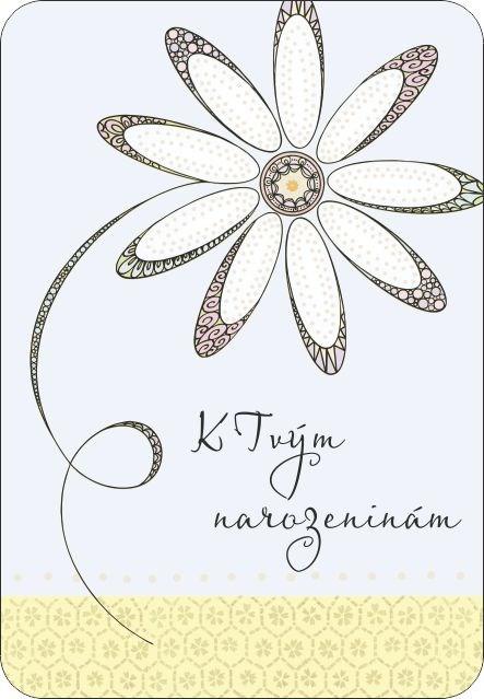 ALBI Přání AR - Květ s ražbou