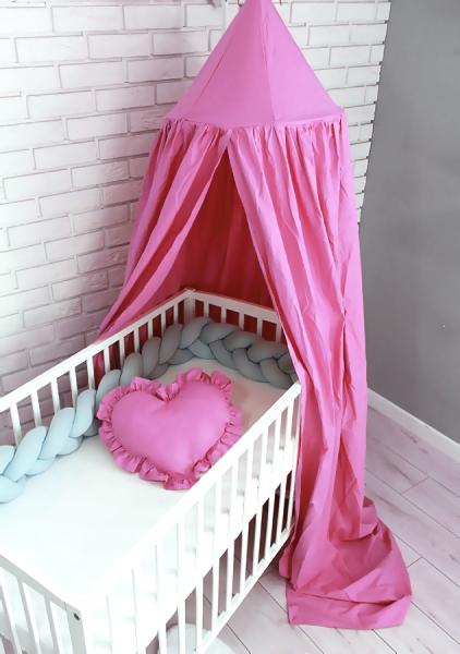 Baby Nellys Nebesa z celé látky - světle růžová