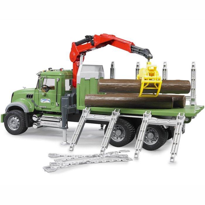 BRUDER 02824 (2824) Nákladní auto MACK Granit přeprava dřeva