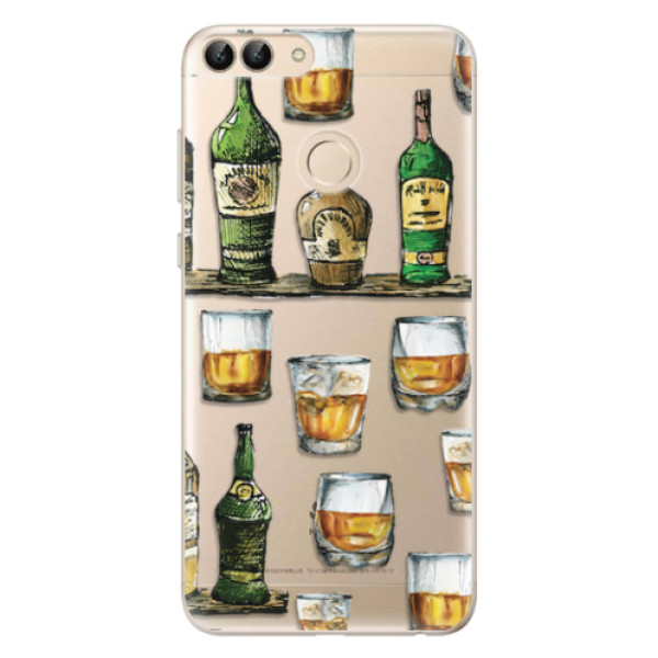 Odolné silikonové pouzdro iSaprio - Whisky pattern - Huawei P Smart