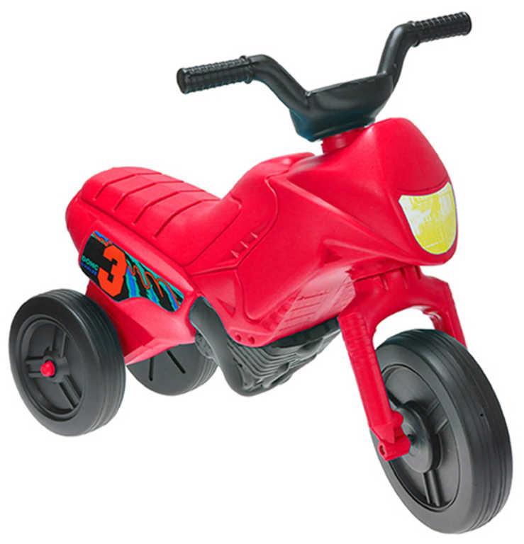 MAD Baby odrážedlo ENDURO červené odstrkovadlo 55x28x40cm motorka plast