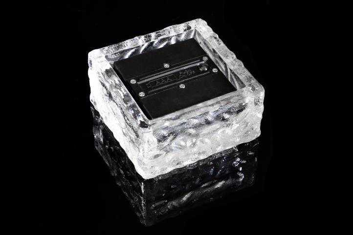 Sada 5 ks solárního osvětlení - skleněná kostka - bílá