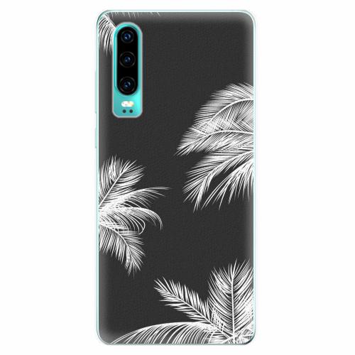 Silikonové pouzdro iSaprio - White Palm - Huawei P30
