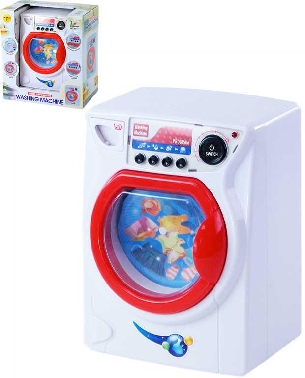Pračka automatická velká 16x22cm na baterie Světlo Zvuk plast