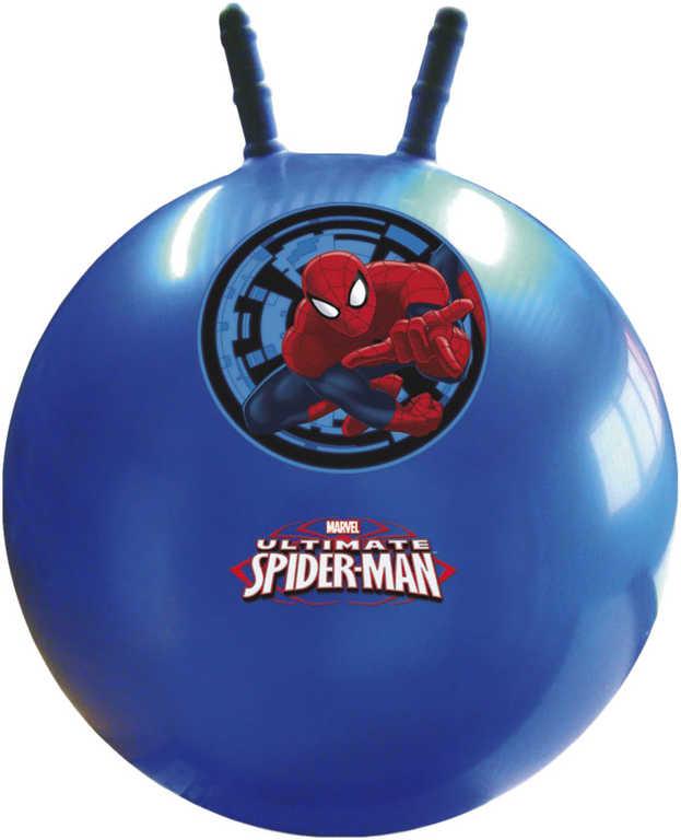Míč skákací Spiderman 50cm modrý s obrázkem dětské hopsadlo s držadly