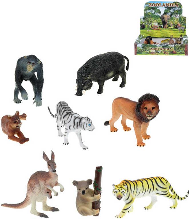 Zvířata divoká plastová Safari Zoolandia 7,5 - 13cm 8 druhů
