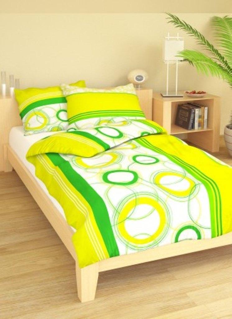 Přehoz přes postel dvoulůžkový Planety zelenožluté, Výběr rozměru: