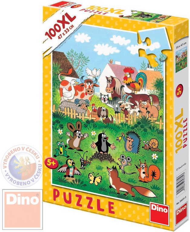 DINO Puzzle XL Krtek na statku (Krteček) 33x47cmcm set 100 dílků v krabici