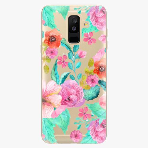 Plastový kryt iSaprio - Flower Pattern 01 - Samsung Galaxy A6 Plus