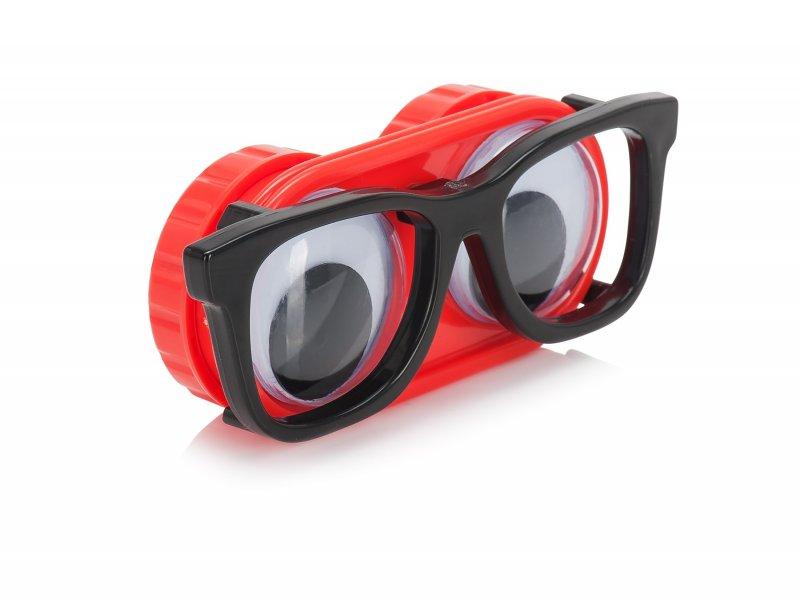 Pouzdro na čočky - oči s brýlemi