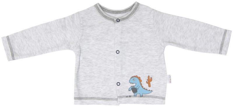 Bavlněná košilka zapínání středem Mamatti DINO - 80 (9-12m)