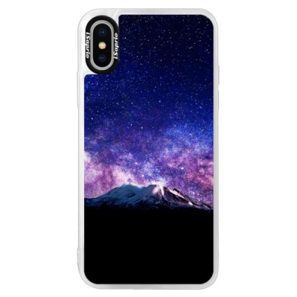 Neonové pouzdro Pink iSaprio - Milky Way - iPhone XS