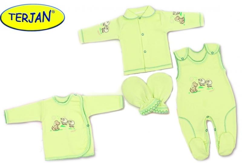 soupravicka-do-porodnice-v-krabicce-terjan-pejsek-zeleny-vel-62-62-2-3m