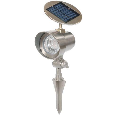 Solární zahradní lampa Garth reflektor 15 x 11,5 x 22 cm