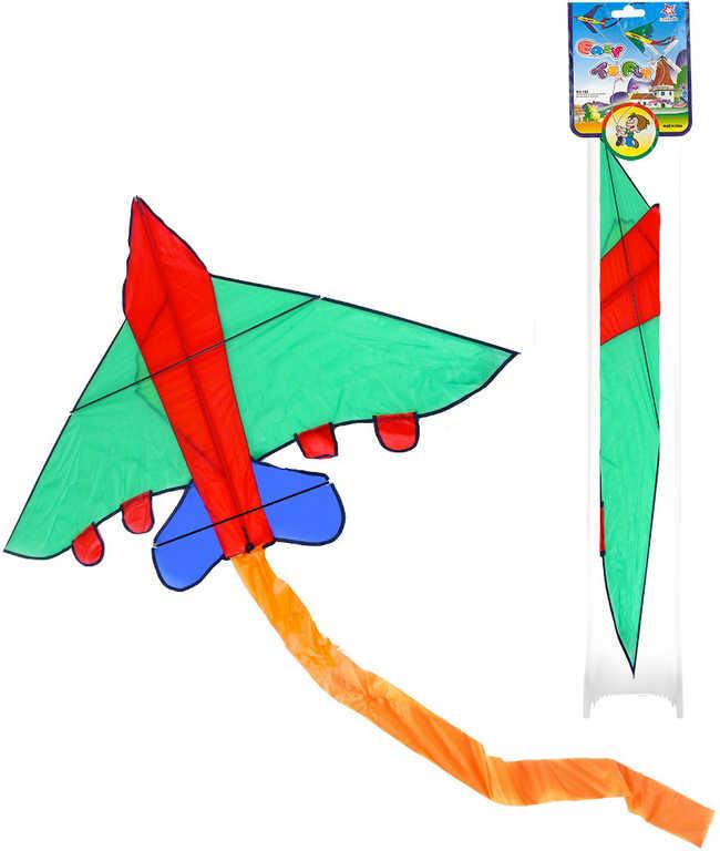 Drak létací nylonový letadlo 140x98cm