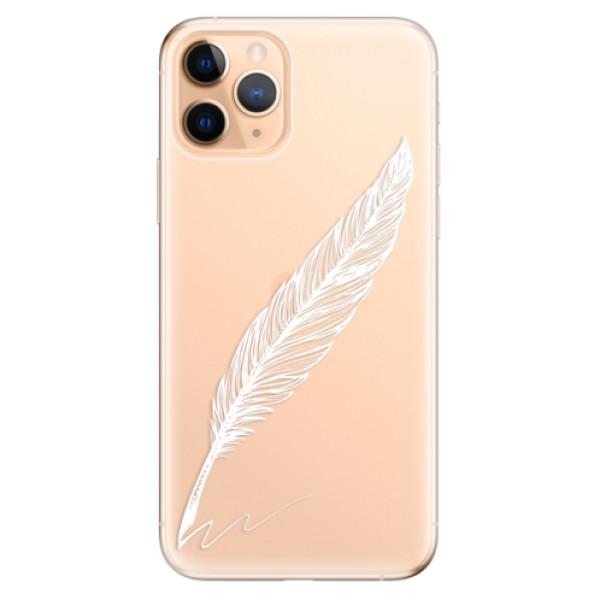 Odolné silikonové pouzdro iSaprio - Writing By Feather - white - iPhone 11 Pro